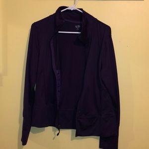 Dark purple zip up